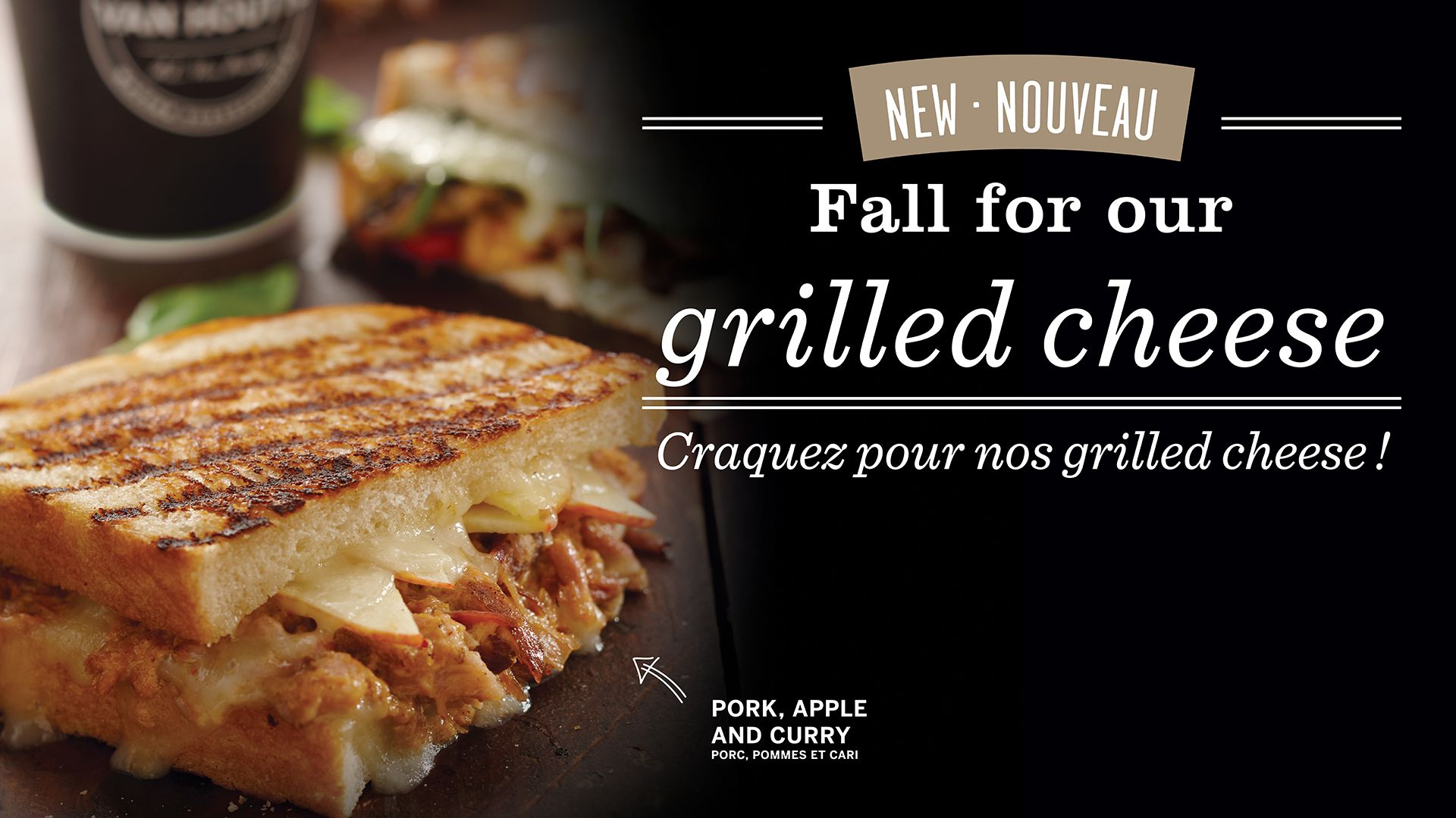 Fall for our grilled cheese!